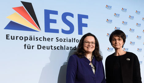 (Federal Minister of Labour Andrea Nahles and Employment Commissioner Marianne Thyssen)