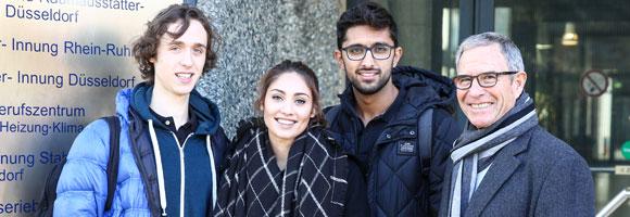 Drei Männer und eine Frau des Projekts MUT IQ
