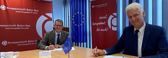 Unterzeichnung der Vereinbarung zwischen dem BMAS und der Deutschen Rentenversicherung Knappschaft Bahn See