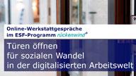 """Plakat """"Online Werkstattgespräche"""""""